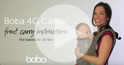 Boba4g寶寶揹帶前背教學影片介紹