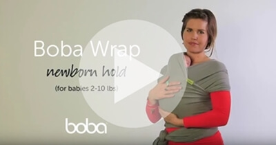 Boba包裹式背巾新生兒背法教學影片