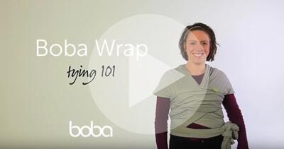 Boba包裹式背巾背法基本教學影片