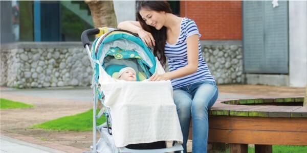 IBQ多功能UV保護巾使用於推車