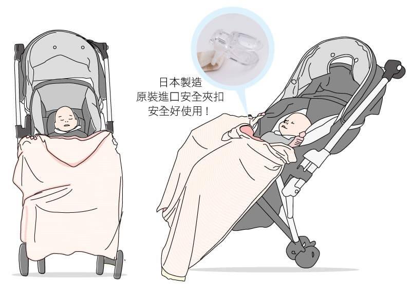 炎炎夏日寶寶在推車內也可以好好眠.UV巾也可以夾在推車上喔!
