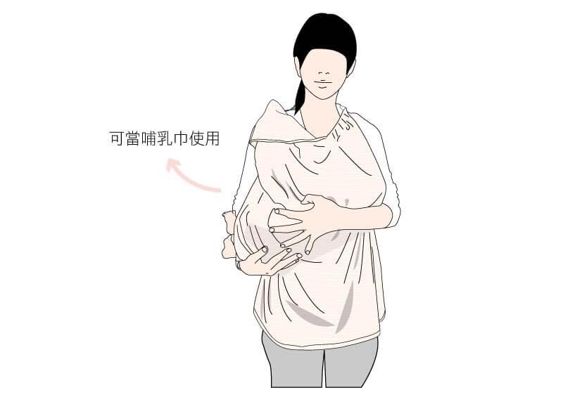 媽咪也可以拿來當哺乳巾,炎炎夏日餵ㄋㄟㄋㄟ也好用