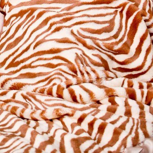 Max Daniel成人毯動物紋棕色斑馬細節圖