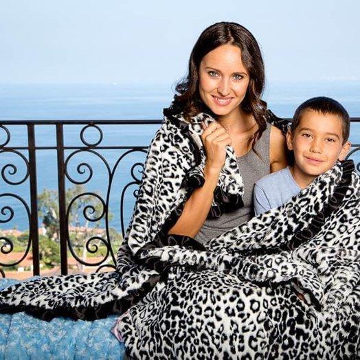 Max Daniel成人毯動物紋黑白美洲豹示意圖