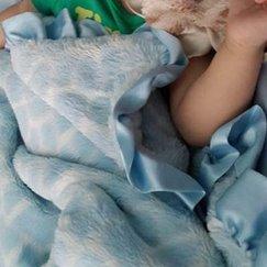 Max Daniel動物紋寶寶毯子示意圖