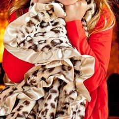 Max Daniel動物紋美洲豹寶寶毯子示意圖