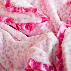 Max Daniel動物紋寶寶毯子粉紅美洲豹示意圖