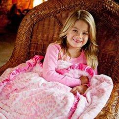 好萊塢明星最愛的動物紋粉紅美洲豹寶寶毯子