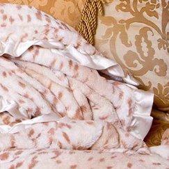 Max Daniel動物紋雪豹寶寶毯子細節圖