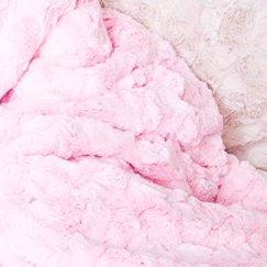 Max Daniel寶寶毯粉紅貂紋示意圖