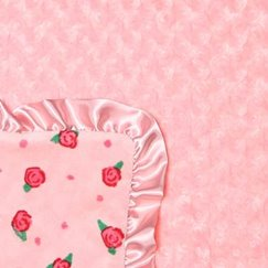Max Daniel寶寶毯玫瑰花紋蜜桃玫瑰示意圖