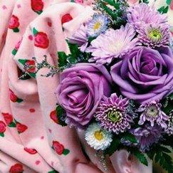 好萊塢明星最愛的寶寶毯子玫瑰花紋蜜桃玫瑰