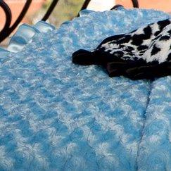 Max Daniel寶寶毯子花蕾天藍色示意圖